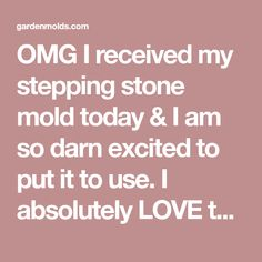 OMG I received my stepping stone mold today & I am so darn excited to put it to use. I absolutely LOVE this pine cone/needle mold. I live in Mon. Stepping Stone Molds, Darning, Pine Cones, Live, Pine Cone