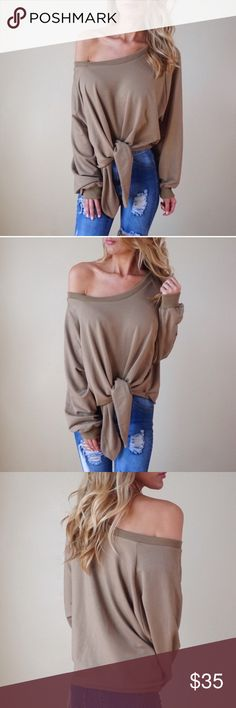 NUDE FRONT KNOT SWEATER Never worn. Comes from a pet free/ smoke free home. Photo credit @taryne721 Tops Sweatshirts & Hoodies