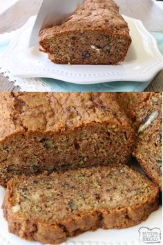 Zucchini Bread Recipe that lives up to its name, BEST EVER Zucchini Bread! - Healthy Bread - Make Bread Zucchini Bread Muffins, Easy Zucchini Bread, Quick Bread, One Loaf Zucchini Bread Recipe, Zucchini Bread With Pineapple, Cucumber Bread Recipe, Large Zucchini Recipes, Carrot Bread Recipe, Healthy Recipes