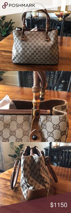 ab49daa27 Authentic, vintage Gucci purse with bamboo detail Vintage Gucci purse with  bamboo detail and GG