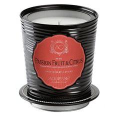Aquiesse Portfolio Collection Scented Tin Candle Passion Fruit & Citrus 11oz