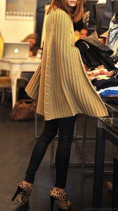 Knitwear - Waxed skinny jeans - leopard booties