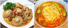 Bosan dengan menu daging, olahan telur bisa menjadi alternatif. Indonesian Food, Mashed Potatoes, Menu, Diet, Chicken, Cooking, Ethnic Recipes, Faces, Whipped Potatoes