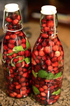Cranberry lime vodka recipe / ikea do these bottles for a couple of pounds, great gift ideas on a budget!