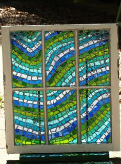 RESERVED LISTING for fleurme Stained Glass Mosaic by ARTfulSalvage