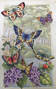Butterfly Cross Stitch by ~Olcanna on deviantART