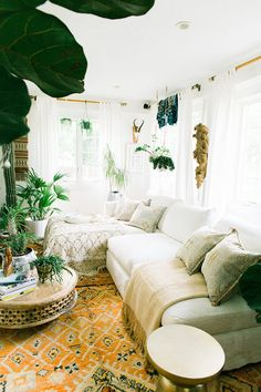 white linen sectional