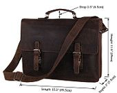Men's High Quality Genuine Leather Laptop Briefcase Handbag Messenger Bag 7223