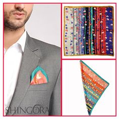 Complete your look with Shingora's 100% silk, Vibrant color #PocketSquare. A Perfect combination of Style & Elegance.