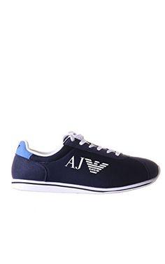 Armani Jeans Canvas Runner Herren Sneaker Blau