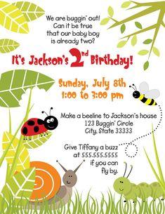Bug birthday party invitations printable invites luv bug design bugs boy customizable birthday invitation by thanksfortheinvite 1500 filmwisefo