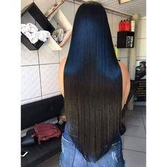 Black do poder 😍 Long Hair V Cut, V Cut Hair, Long Black Hair, Hair Cuts, Beautiful Long Hair, Gorgeous Hair, Love Hair, My Hair, Straight Hairstyles