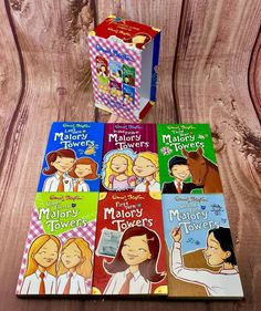 Malory Towers by Enid Blyton Paperback 2006 6 Book Box Set Collection Gift 🎁 Enid Blyton Books, Towers, My Ebay, Book Covers, Goals, Box, Collection, Snare Drum, Tours