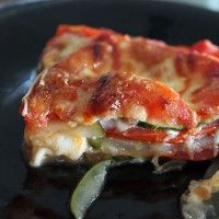 Cheesy Zucchini Tomato Bake (use pizza seasoning - tastes like pizza)