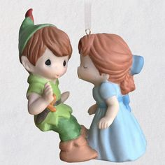 2020 Disney Peter Pan and Wendy Precious Moments® Porcelain Ornament - Keepsake Ornaments - Hallmark