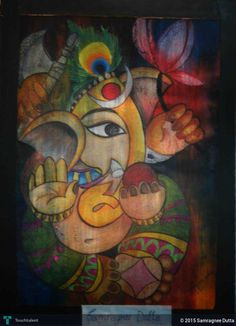 Lord Ganesha in Painting by Samragnee Dutta