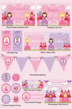Princess Party Printable