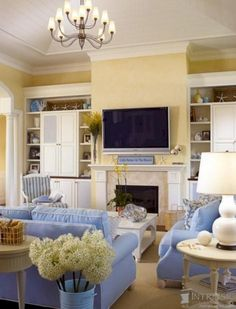 45+ Beach Coastal Style Living Room Inspirations