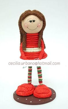 Muñeca Micaela 4 Kids, Arts And Crafts, Christmas Ornaments, Holiday Decor, Ideas, Activities, School, Quilling, Paper Envelopes