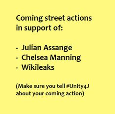 Chelsea Manning, Direct Action, Street