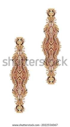 Digital Textile Design Motif Botanical Flower Stock Illustration 2022556067