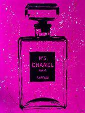 Chanel PINK Urban Chic by PopArtQueen 24x18 Gallery Wrap Pop Art Canvas Decor