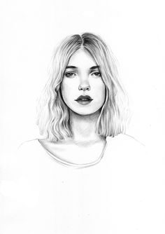 Quick black ballpoint pen drawing portrait by @victoria__nell
