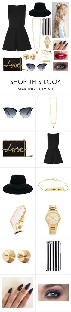 """Untitled #222"" by jbasbeck ❤ liked on Polyvore featuring Gucci, Lanvin, Alexander McQueen, Maison Michel, Michael Kors, Eddie Borgo, MICHAEL Michael Kors and TheBalm"