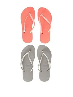 30% OFF Havaianas Unisex Flip Flop - 2 Pack (Red/Grey)