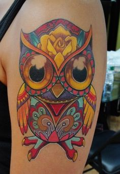 Day of the dead owl.....obsessed with this!!