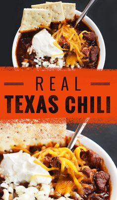 Best, Most Authentic Chili Has No Beans And Tons Of Meat How To Make The Best, Most Authentic Texas ChiliHow How may refer to: Best Chili Recipe, Chilli Recipes, Bean Recipes, Mexican Food Recipes, Crockpot Recipes, Cooking Recipes, Cooking Chili, Steak Chili Recipe, Best Texas Chili Recipe No Beans