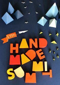 Handmade graphic design poster