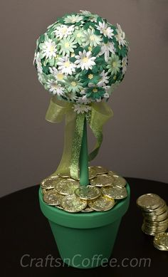 Saint Patrick Day Crafts   DIY a 30-minute (tops) St. Patrick's Day Topiary   Crafts 'n Coffee