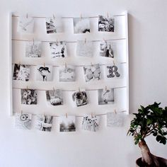 DETAILS Hang a beautiful display of your favourite photos and pictures with this hanging photo display with 40 clips to hold photos/memos Product: photo display