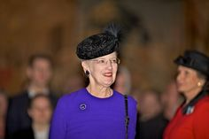 Queen Margrethe at the banquet hall of the University of Copenhagen for the annual celebration.