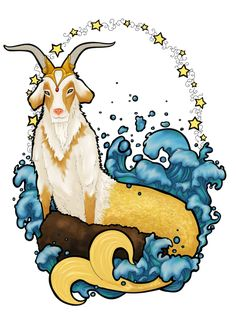 AstroSpirit / Capricorn ♑ / Earth / The Goat / Capricorne by CeciliaSal