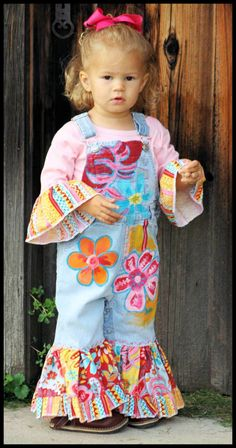 Hand Painted Indian Summer Overalls