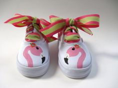 Shoes Flamingo Girls Hand Painted Pink and by boygirlboygirldesign, $28.00