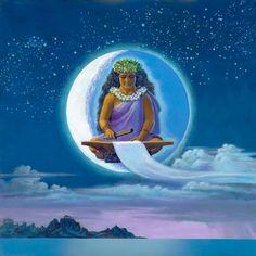Herb Kane - Painting Image Catalog - Gods, Goddesses and Legends- Hina