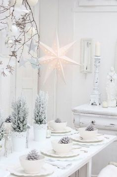 Tone on Tone, White on White, simply details goes big for the Holidays.