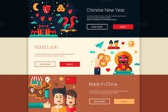 Banners Set - Travel to China by Decorwith.me Shop on @creativemarket