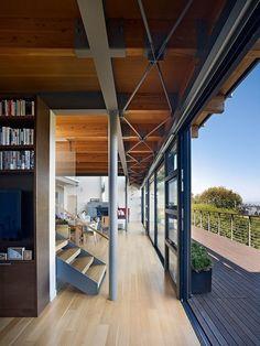 Modern Hillside Home by Pfau Long Architecture