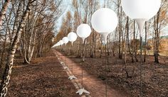 8,000 glowing balloons trace the berlin wall to mark 25 years since its fall