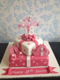 torte rosa zum 18