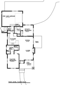 Craftsman Style House Plan - 2 Beds 2 Baths 999 Sq/Ft Plan #895-25 Floor Plan - Main Floor Plan - Houseplans.com