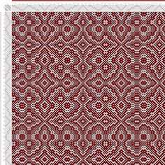 draft image: Threading Draft from Divisional Profile, Tieup: Draft #14144, 6S, 6T Weaving Designs, Weaving Projects, Weaving Patterns, Tile Patterns, Stitch Patterns, Tablet Weaving, Weaving Art, Loom Weaving, Hand Weaving