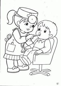 Un dentiste prenant soin de la dent d'un petit garçon, à