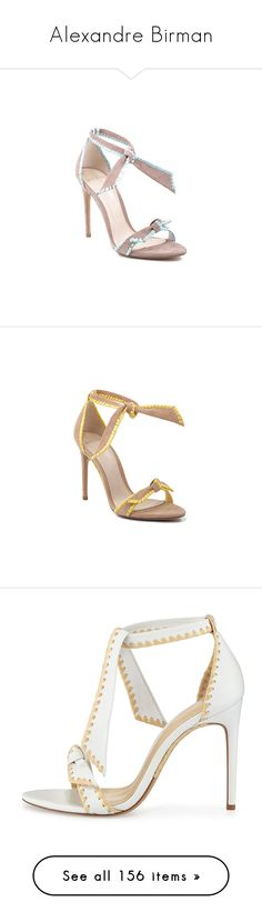 """""""Alexandre Birman"""" by livnd ❤ liked on Polyvore featuring Shoe, alexandrebirman, livndshoes, livndalexandrebirman, shoes, heels, raffia shoes, sandals, leather ankle wrap sandals and genuine leather shoes"""
