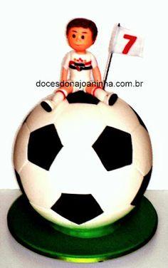 Bolo Bola de Futebol com Jogador do São Paulo SPFC