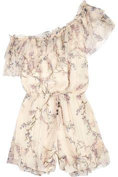 42a4ecfa3956 Zimmermann - Curacao one-shoulder printed silk-chiffon playsuit. Romper ...